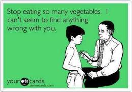 Eaitng veggies